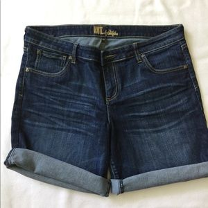 Kit from the Kloth denim shorts